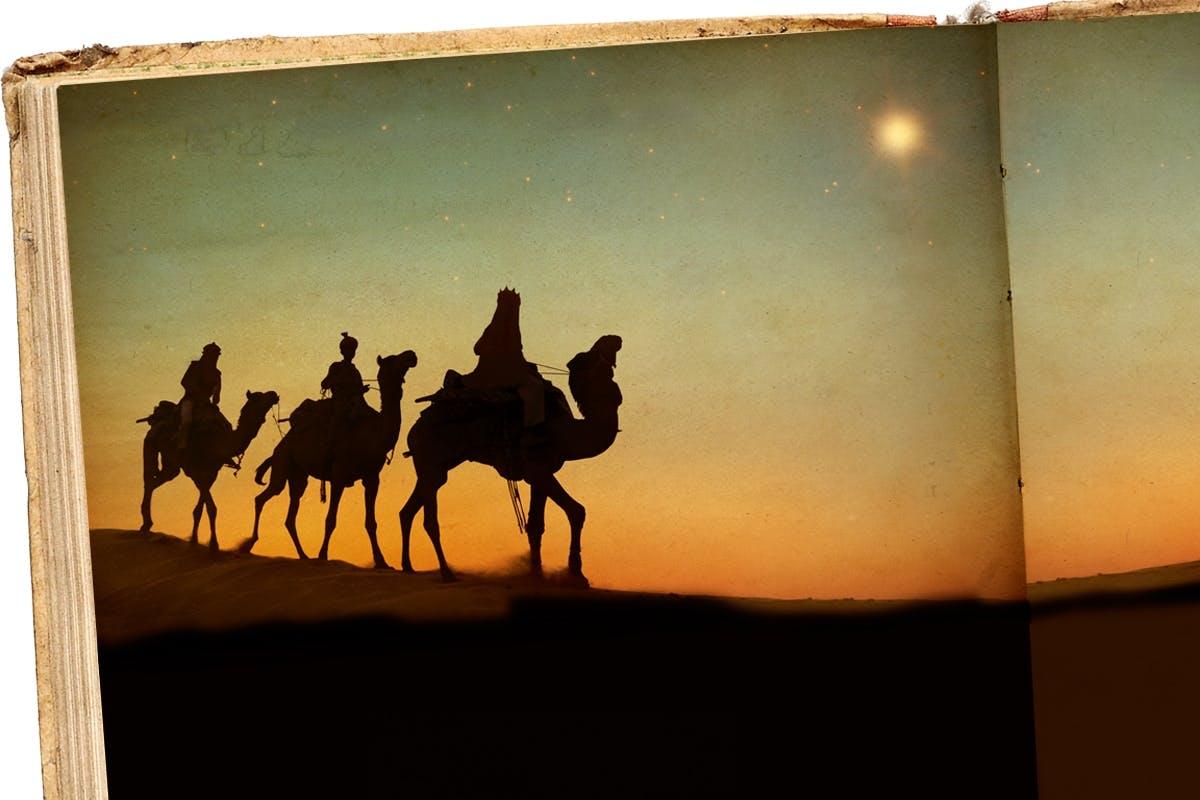 Betlehemsstjernen - lyste stjernen over Betlehem julenat