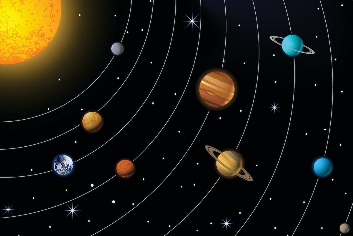 Solsystemet Tyngdkraften Har Makten Illvet Se
