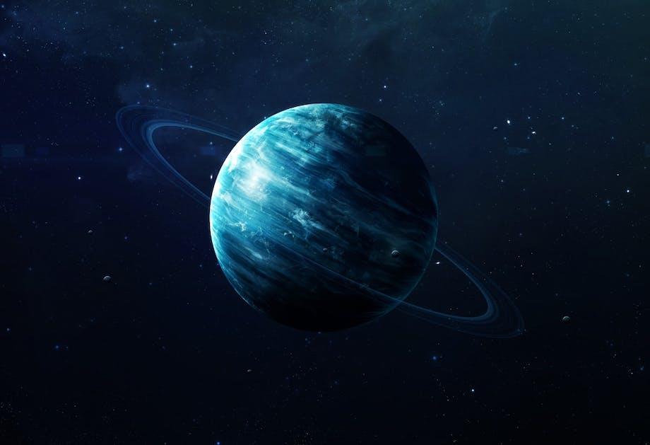 De ringen van Uranus.