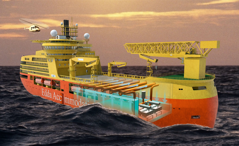 Ship on ocean
