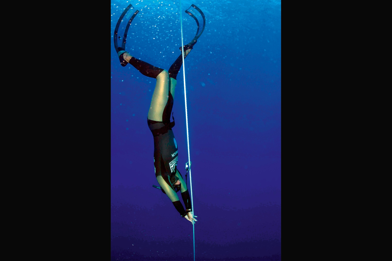 freediver breathing