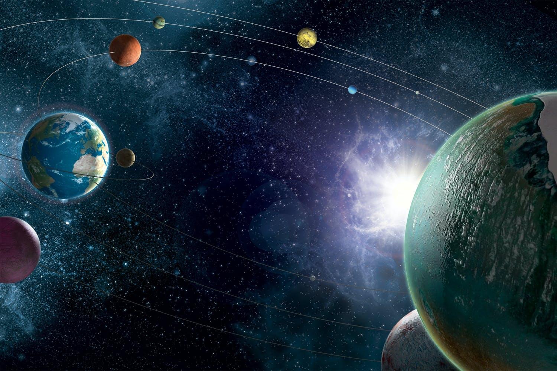 Solar system, illustration