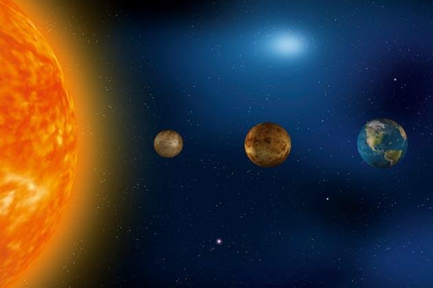 Mercury, Venus and Earth
