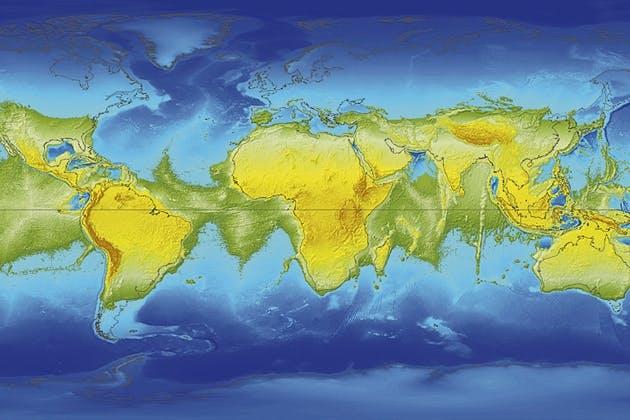 World map No rotation