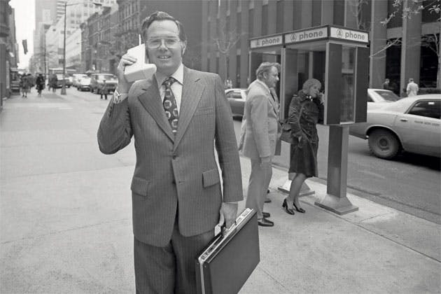 Martin Cooper first cellphone call