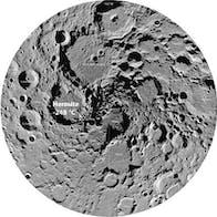 Moon's Hermite Crater