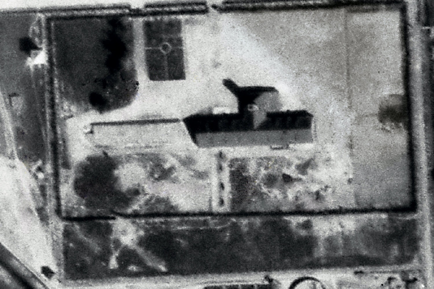 Auschwitz seen from above