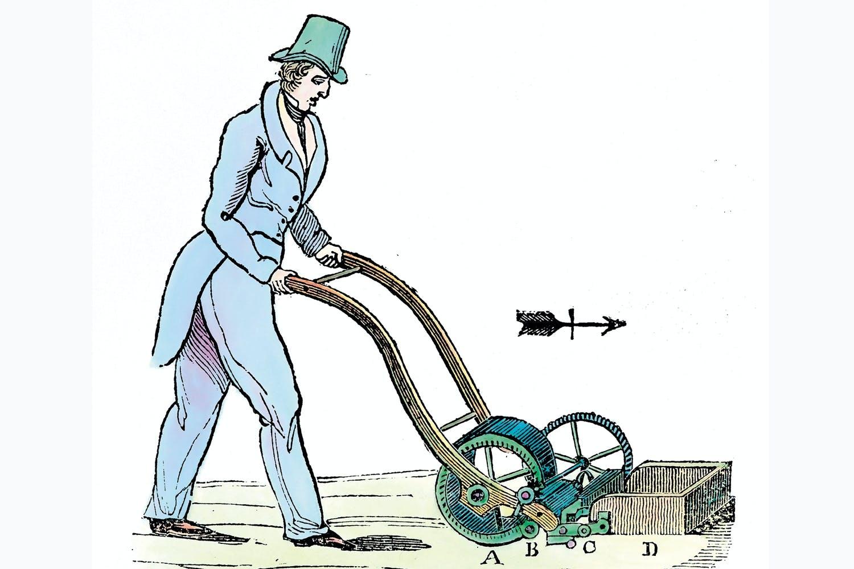 Lawn mower anno 1827