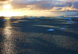 Antartica sunset