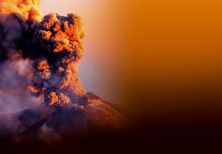 Smoking volcano