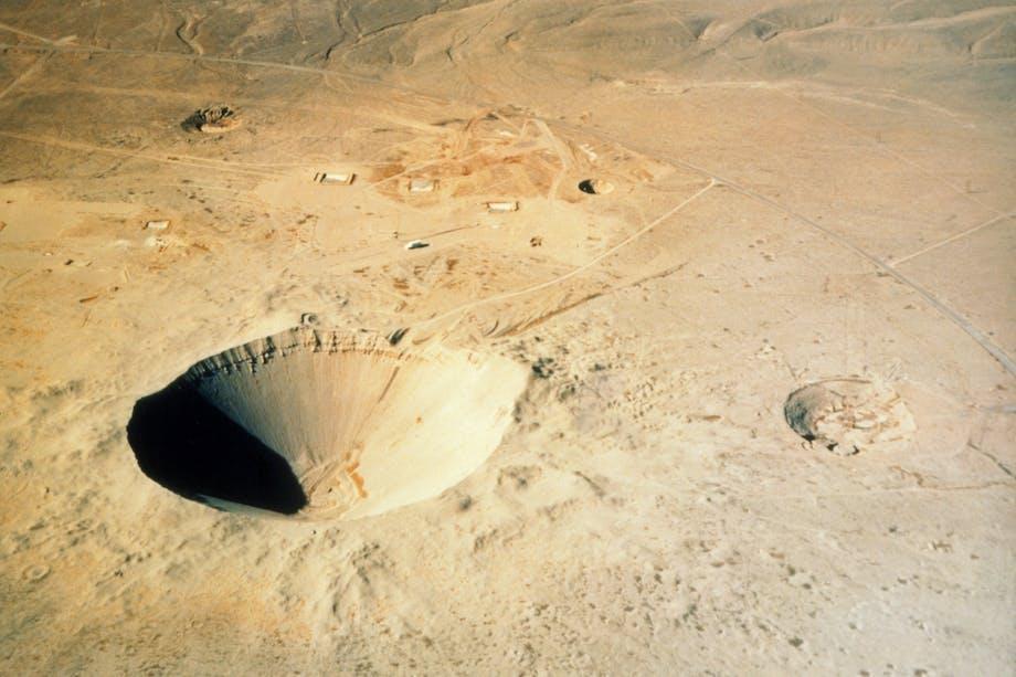 A-bomb crater