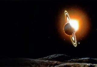 Solar eclipse at Iapetus