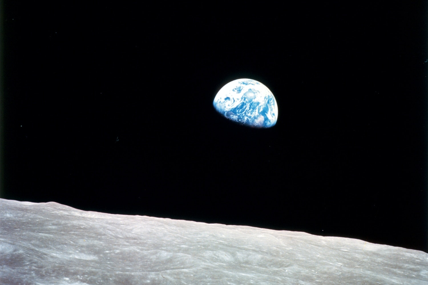 Earth seen from the moon