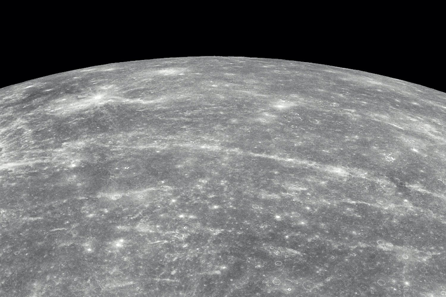 Mercury seen from Messenger