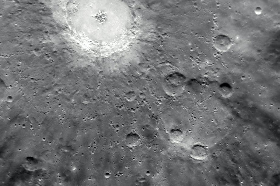 Debussy crater on Mercury