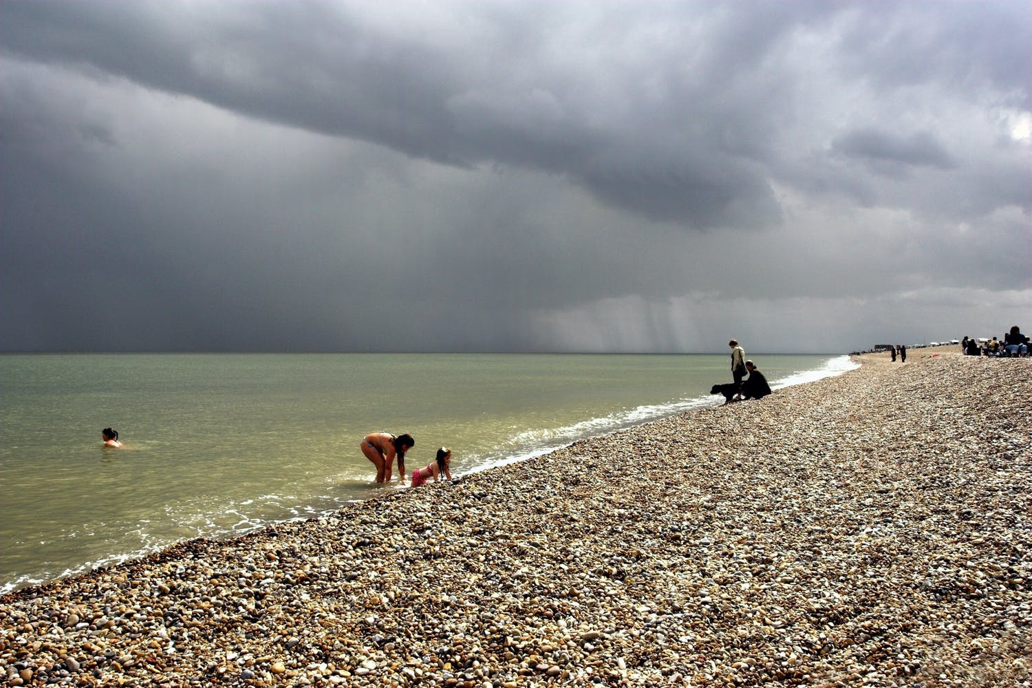 Stormy weather at beach