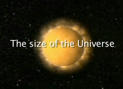 Physics: size of the universe