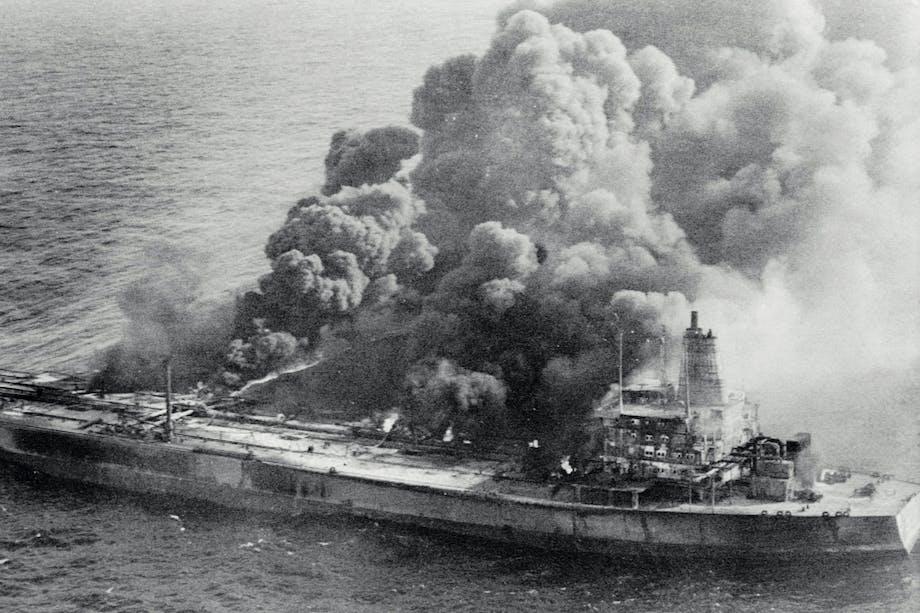Colliion between Atlantic Empress and Aegean Captain
