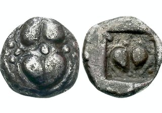 Coins depicting Silphium