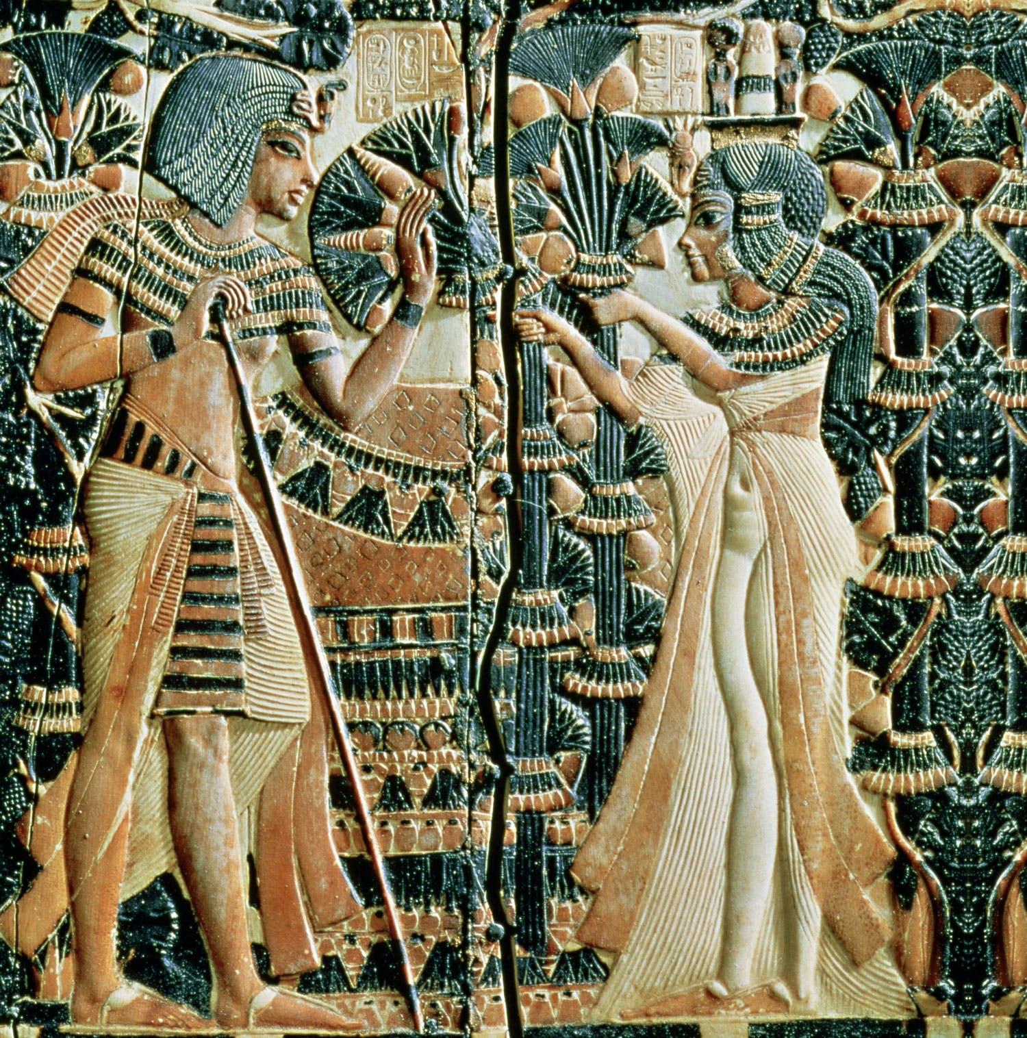 Tutankhamon and wife