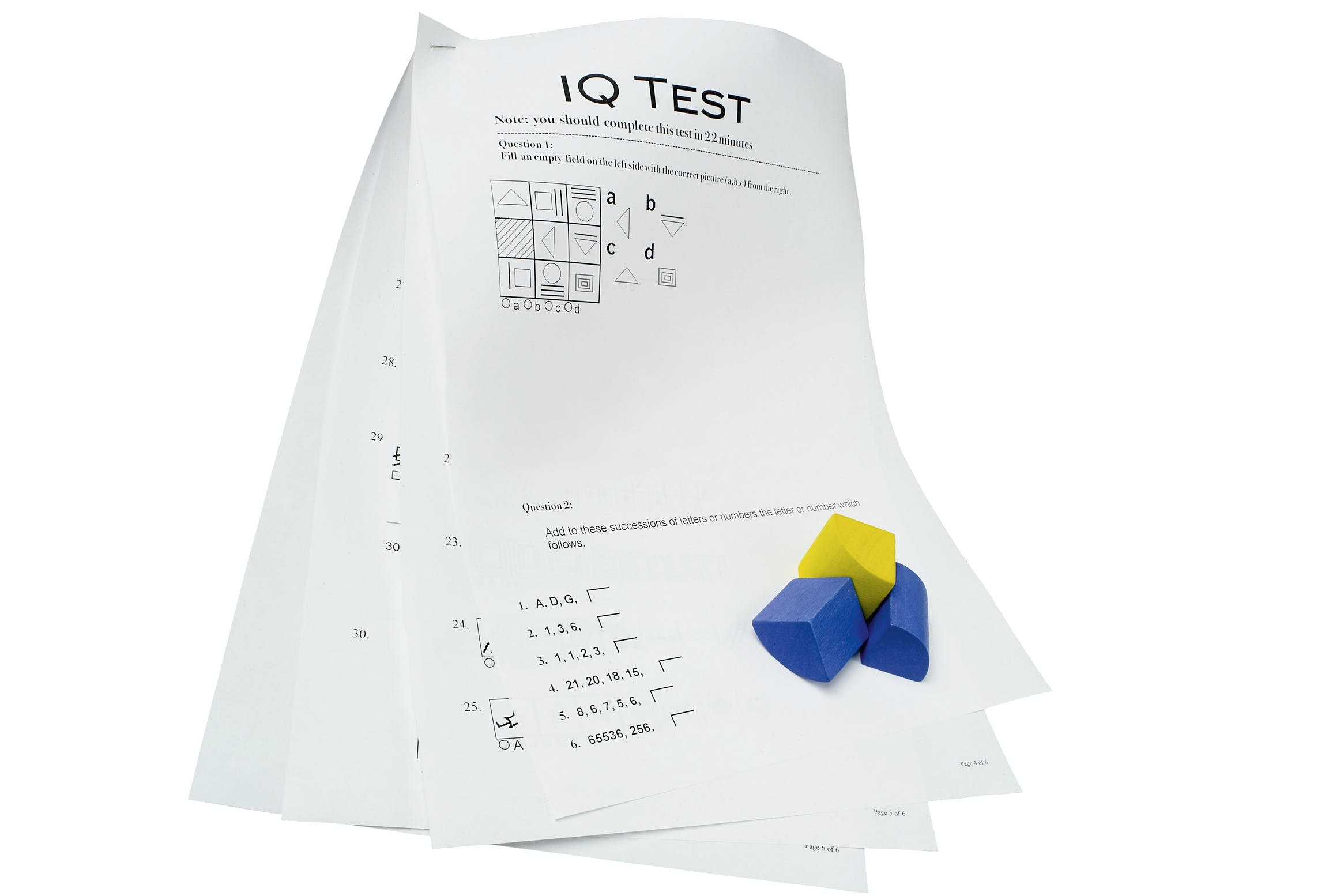 IQ Test papers