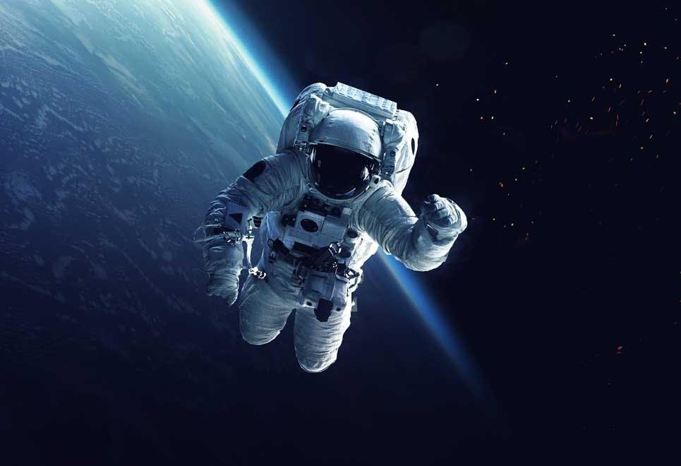 Astronaut i rummet - temperatur