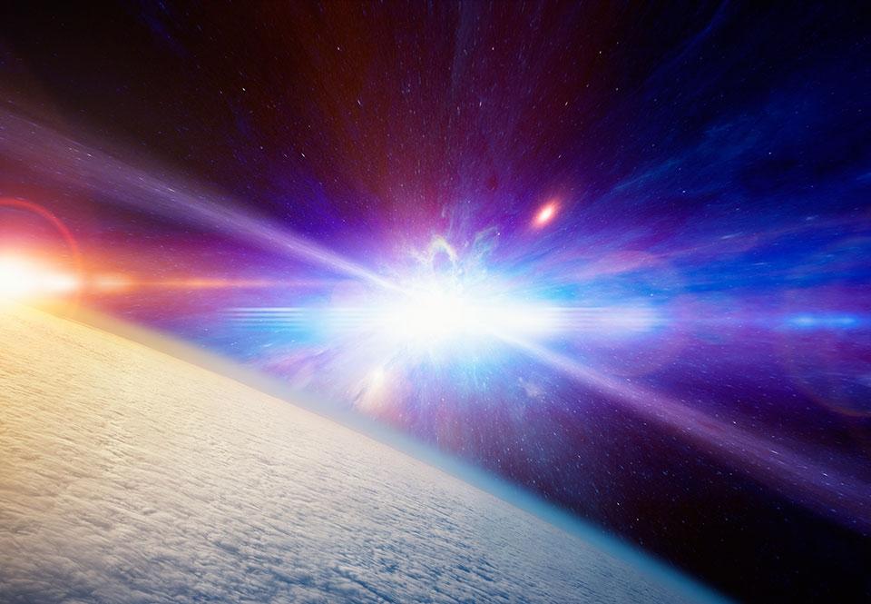 Supernova synlig pa natthimlen