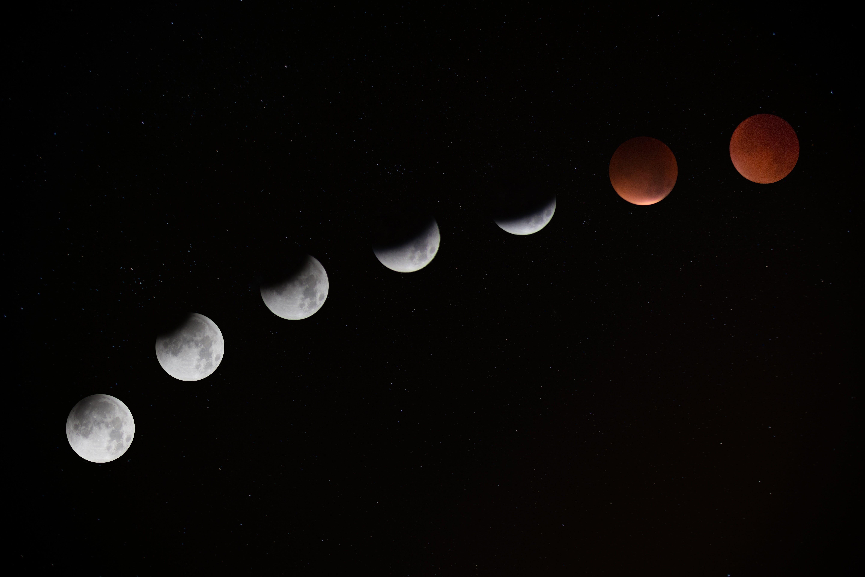 Maansverduistering rood