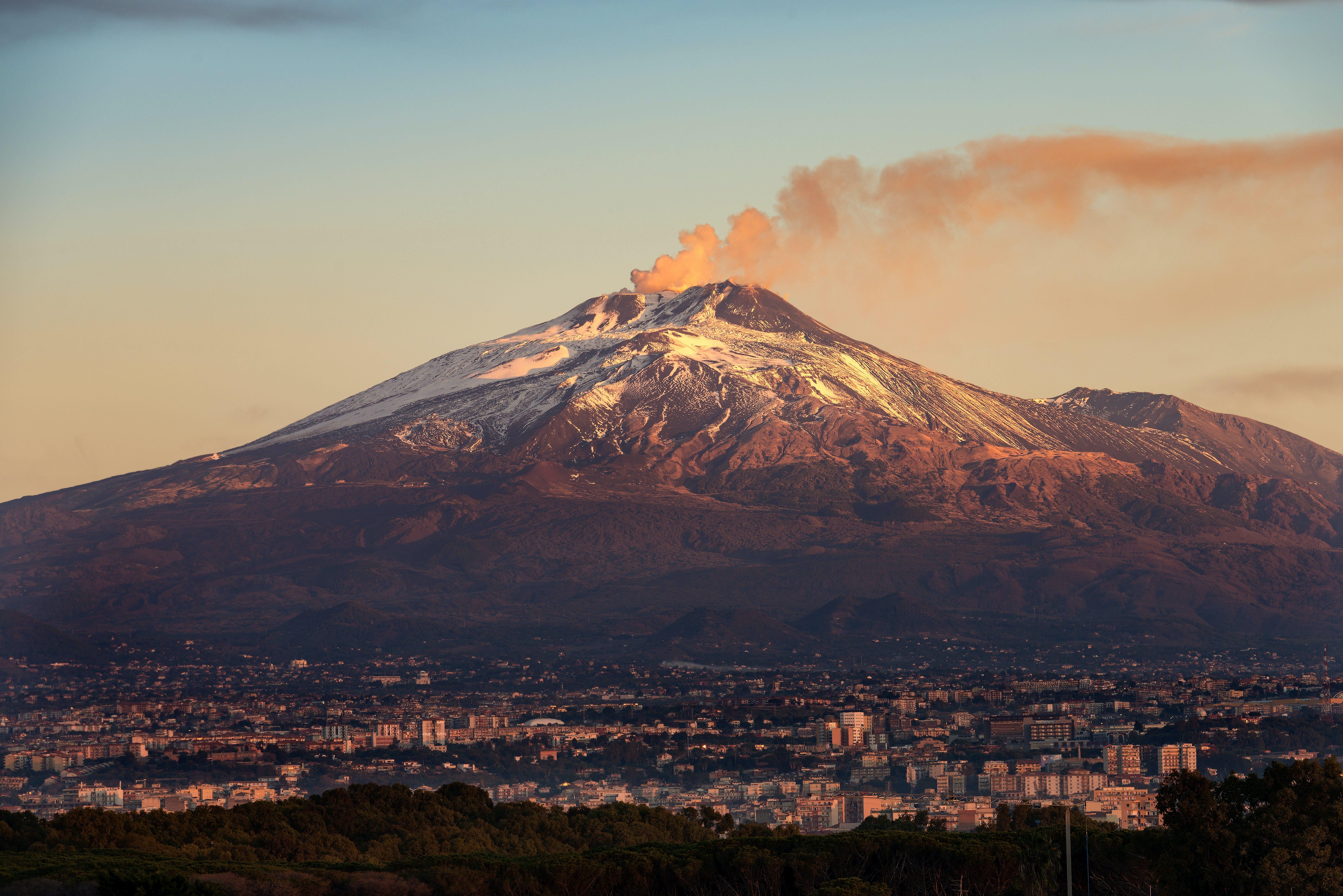 Vulkaner i Europa - Vulkanen Etna i Italien