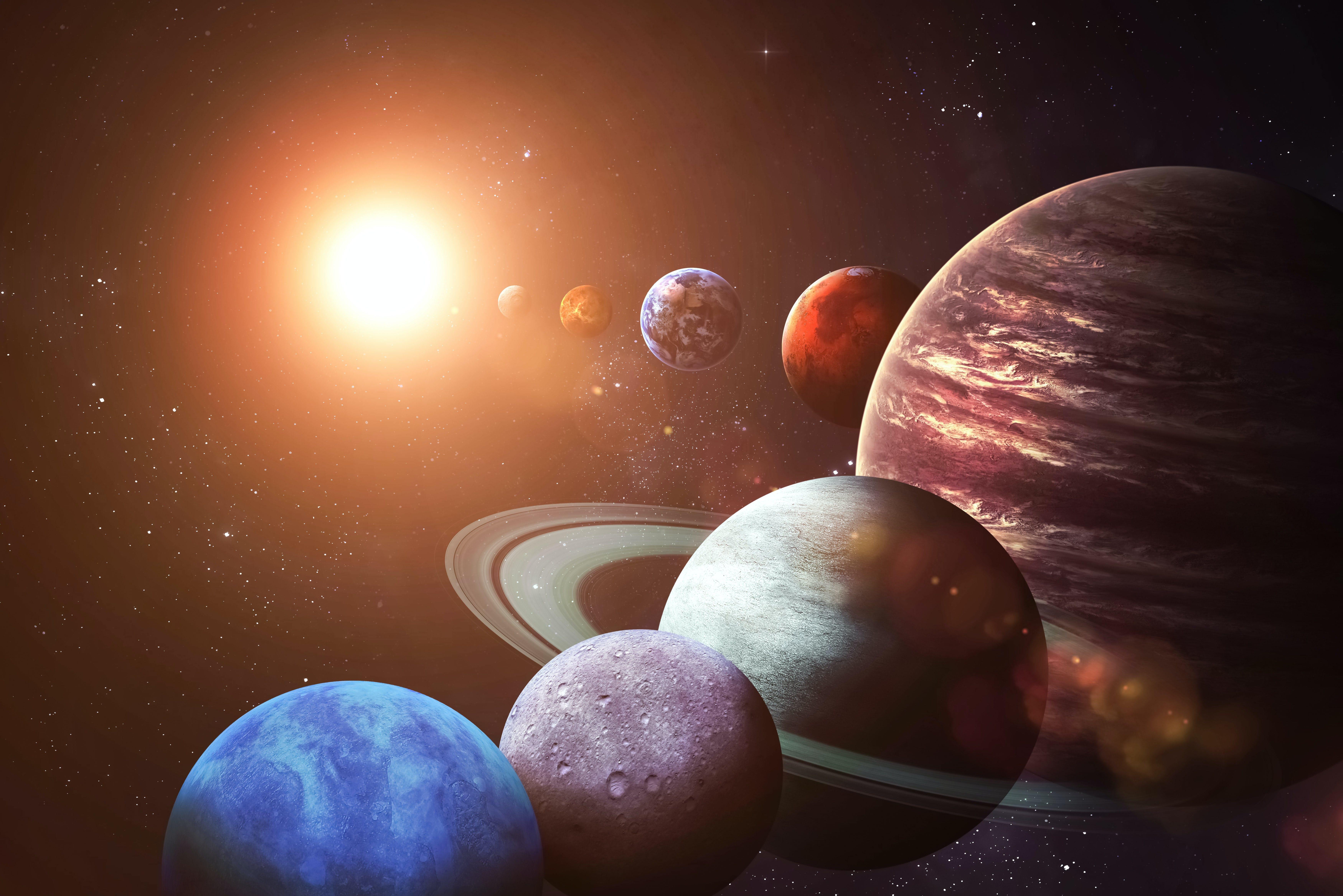 De planeten van het zonnestelsel