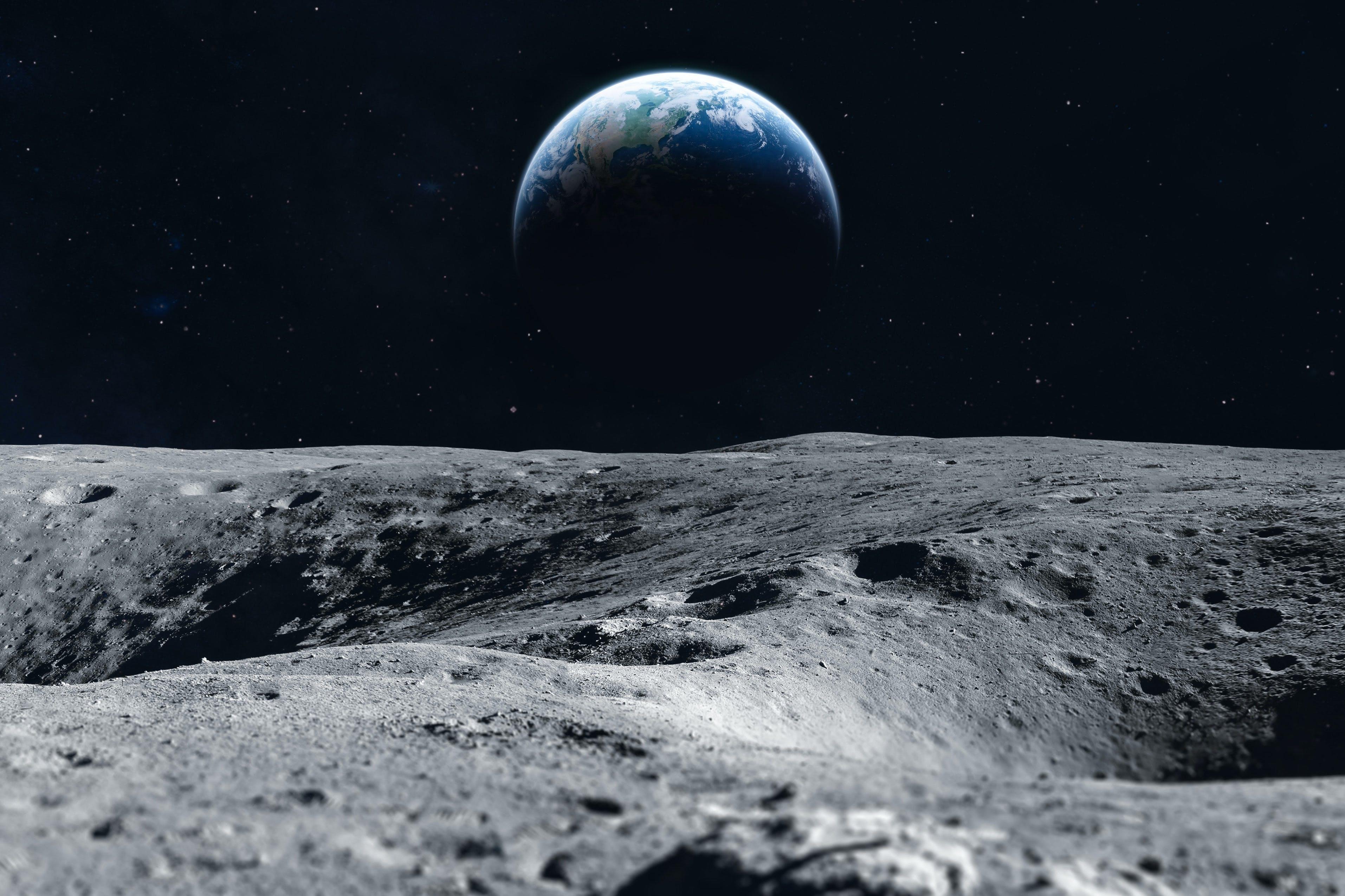De maan - Mensen op de maan