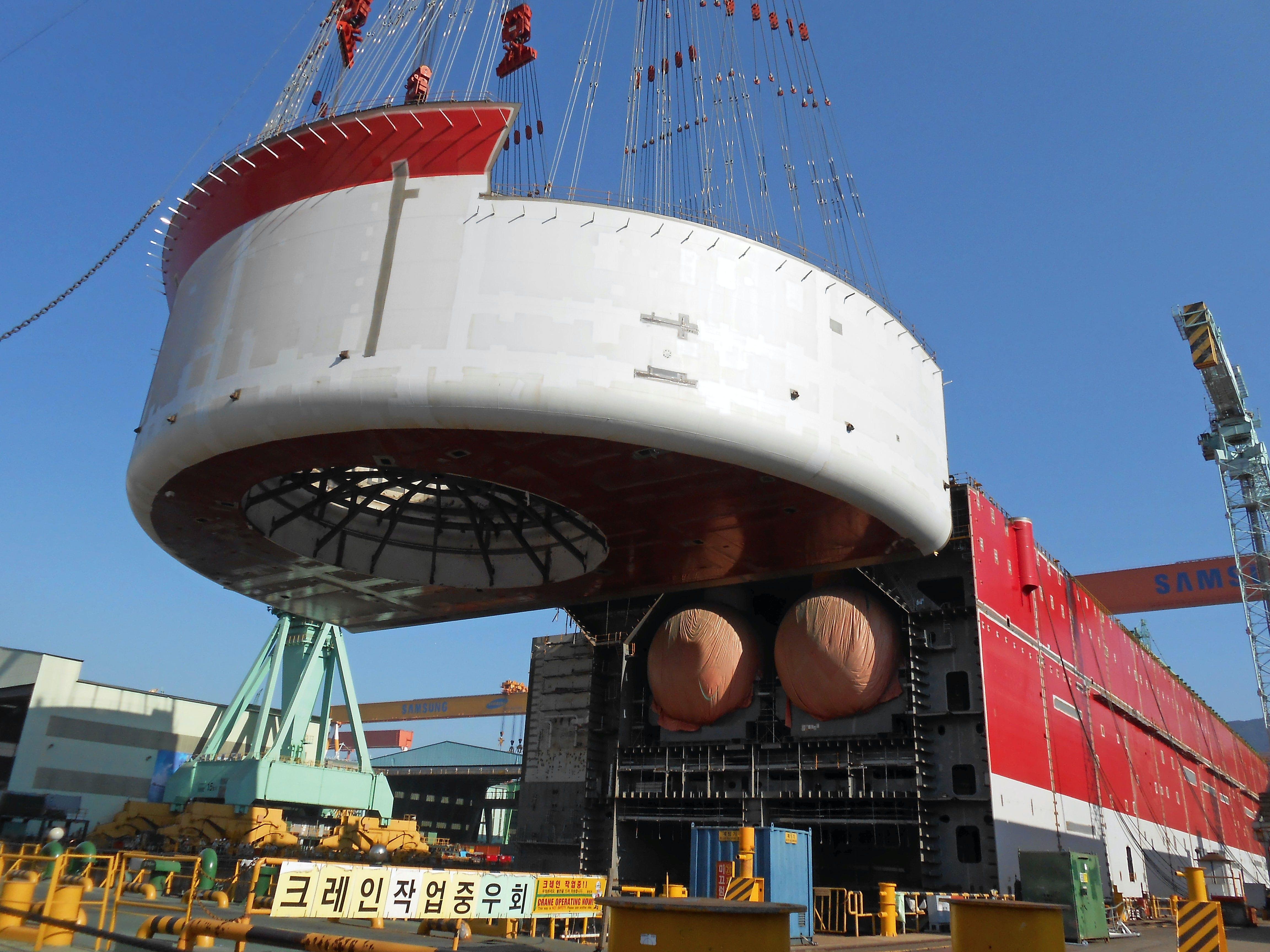 Gasskibets drejetårn