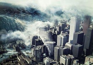 Fiktiv tsunami