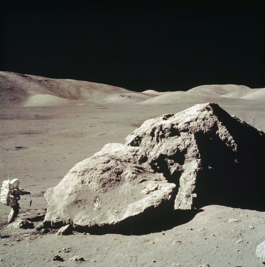 Schmitt by moon rock