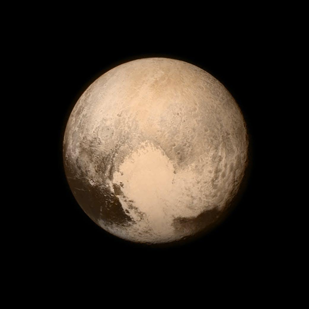 Pluto, Pluton sydän