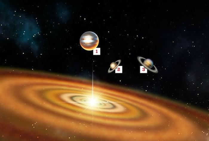 Mysterieus planetenstelsel houdt zich niet aan de regels