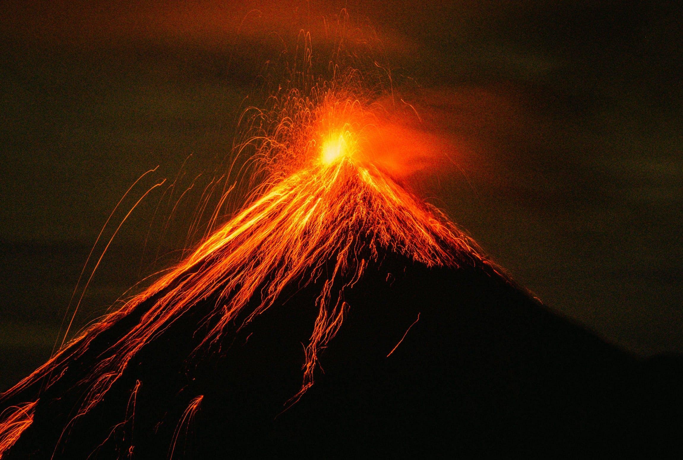 Vulkan i udbrud