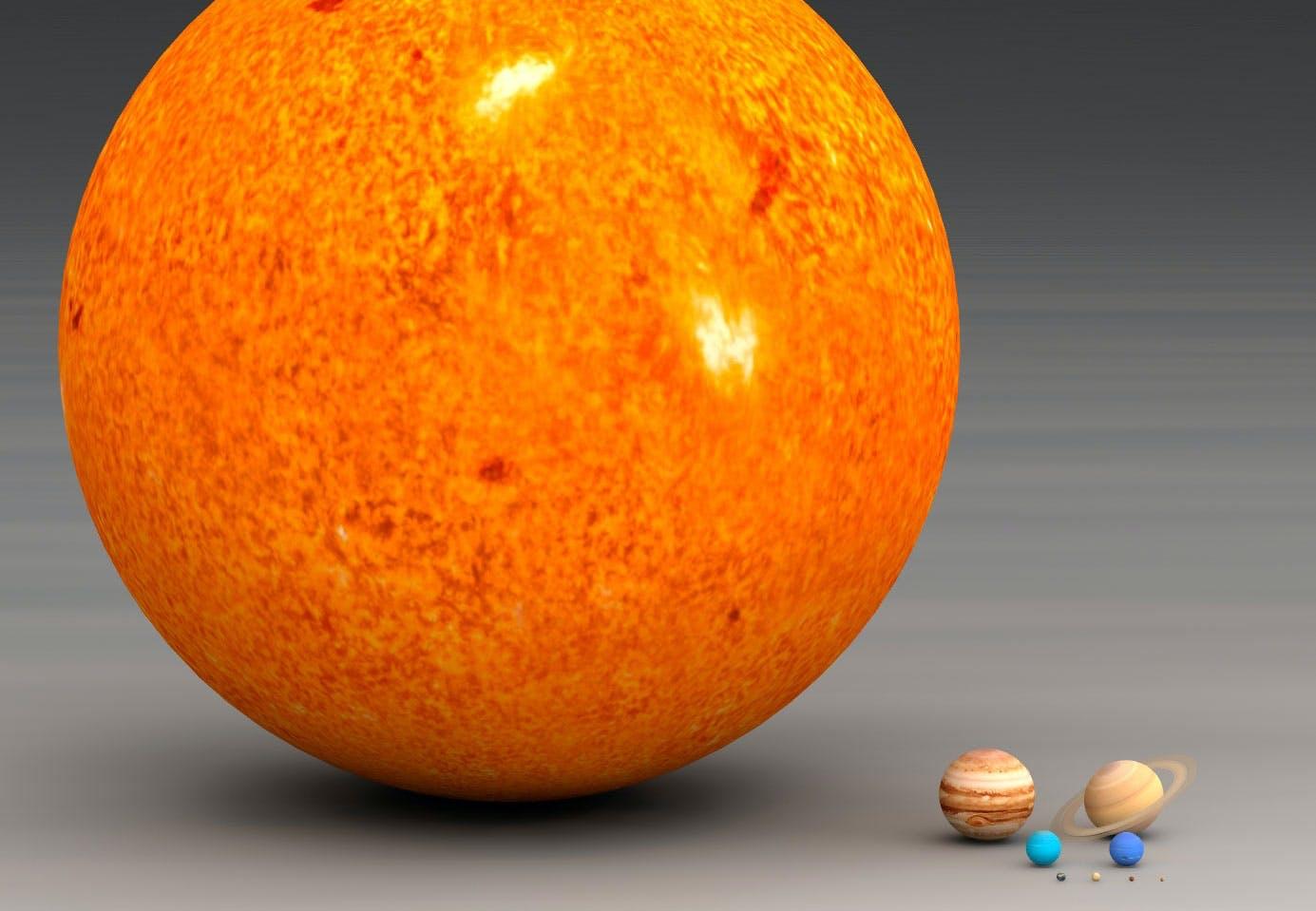 Kuinka suuri Aurinko on?