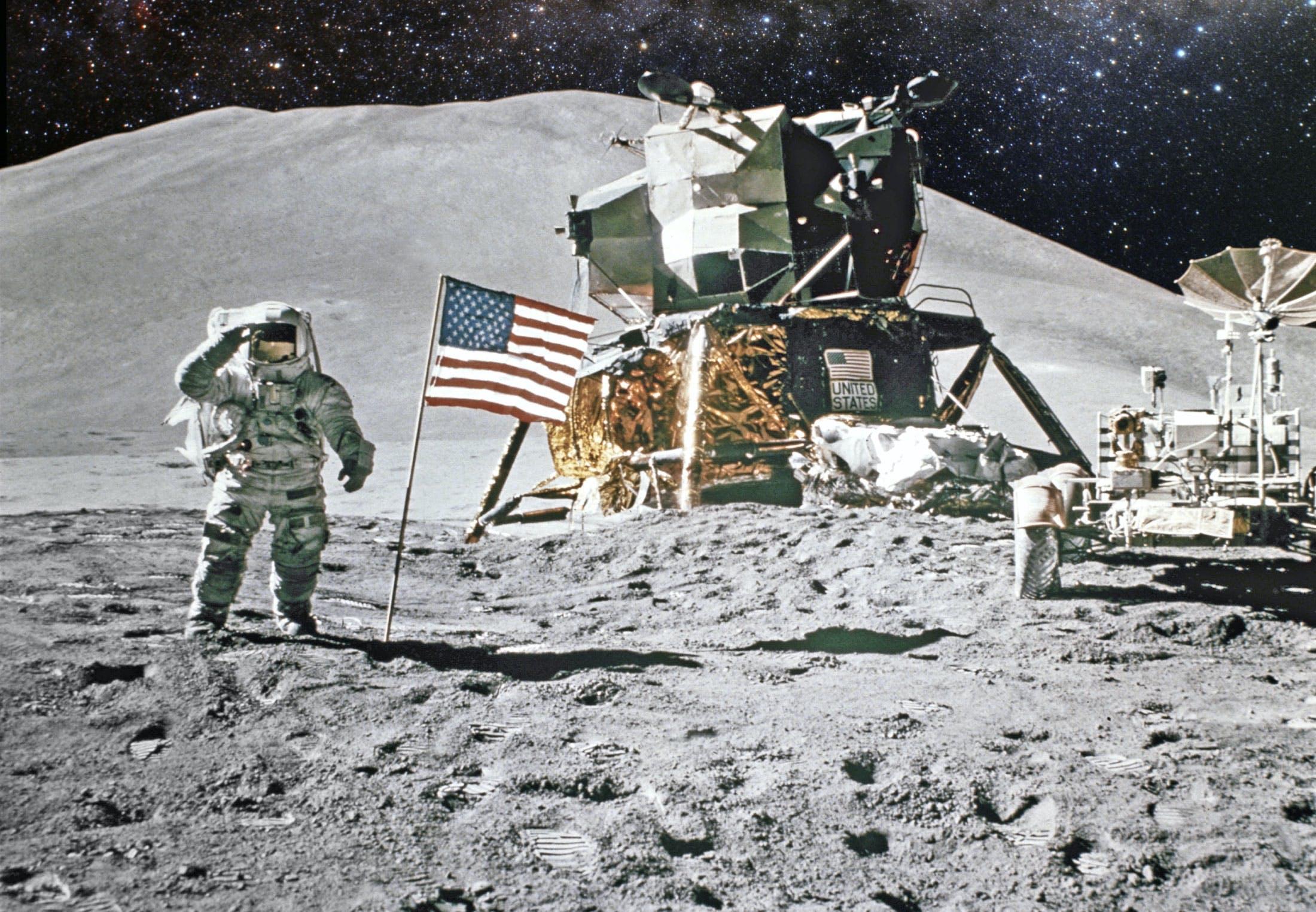 Første mand på månen
