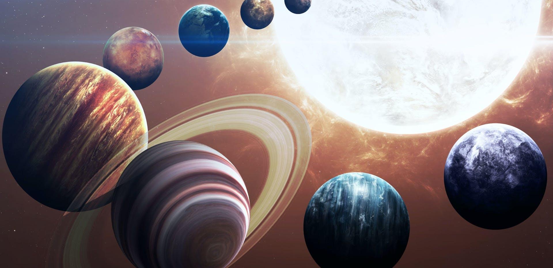 Planeten in het zonnestelsel