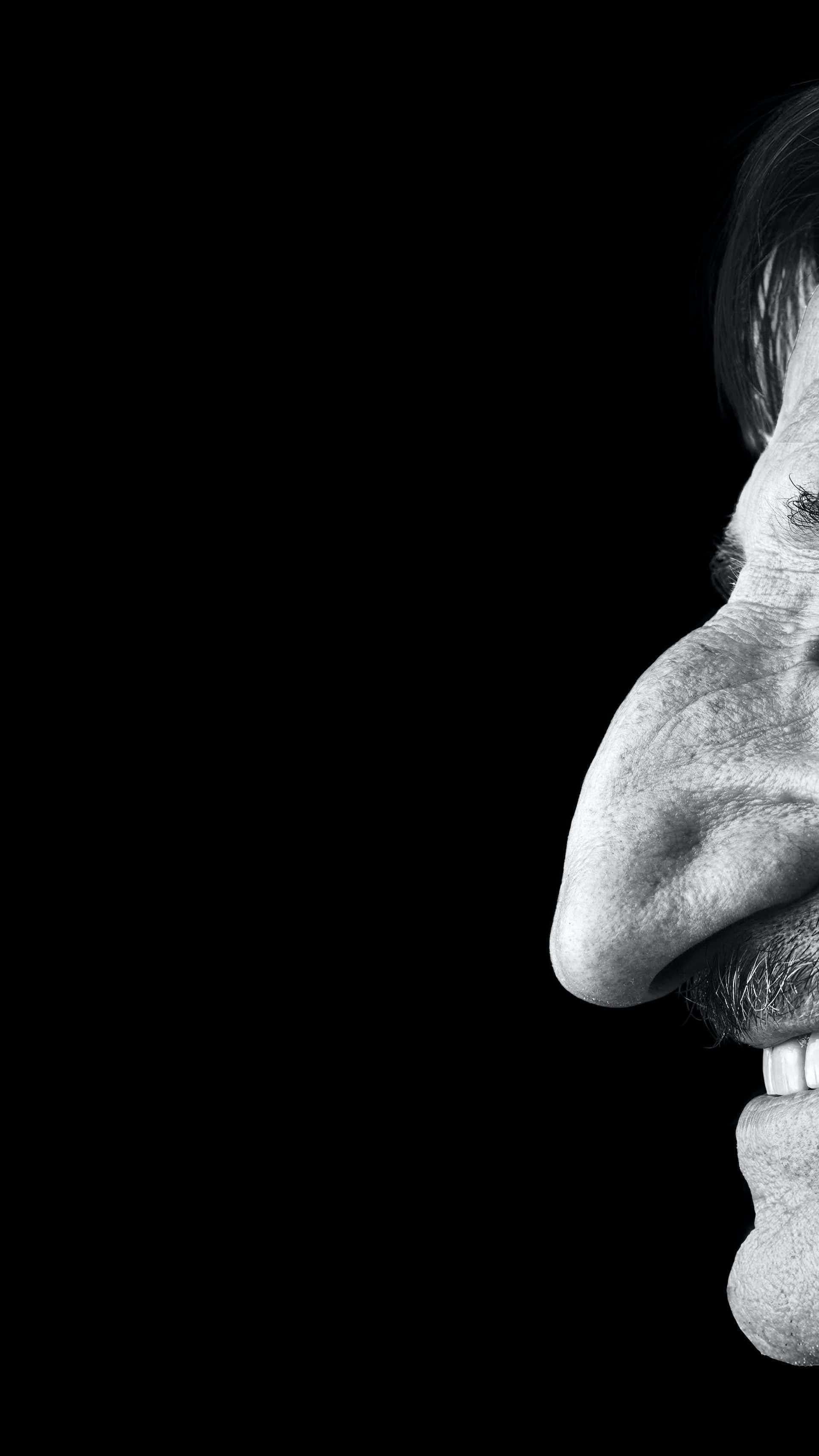 Met grote mannen neus een 4 manieren