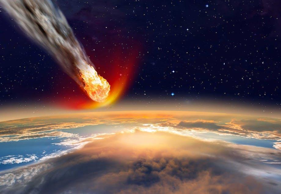 Asteroide slår ned i Jorden