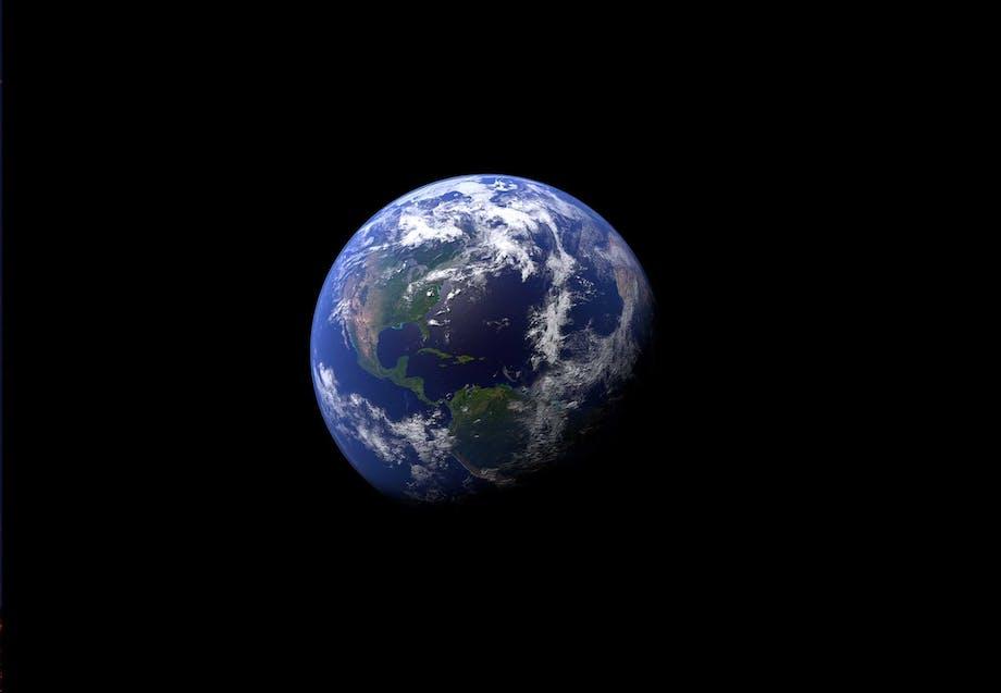 Jordklotet sett från rymden