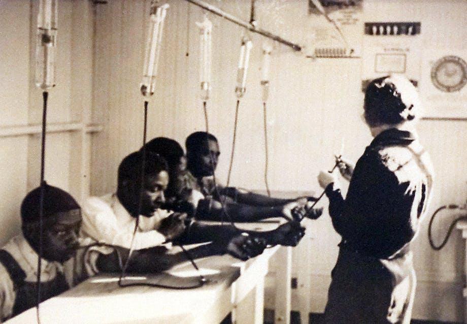 Sorte deltog i et syfilisforsøg uden at blive informeret om det.