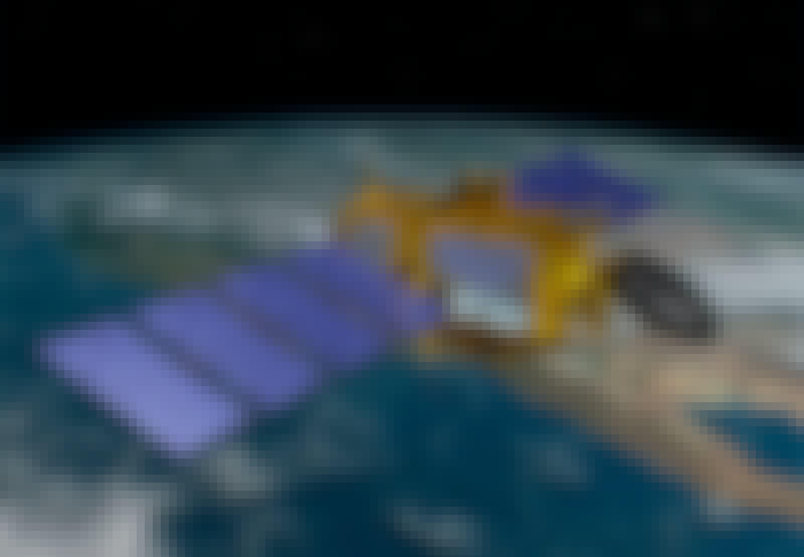 Satellit i omlopp runt jorden