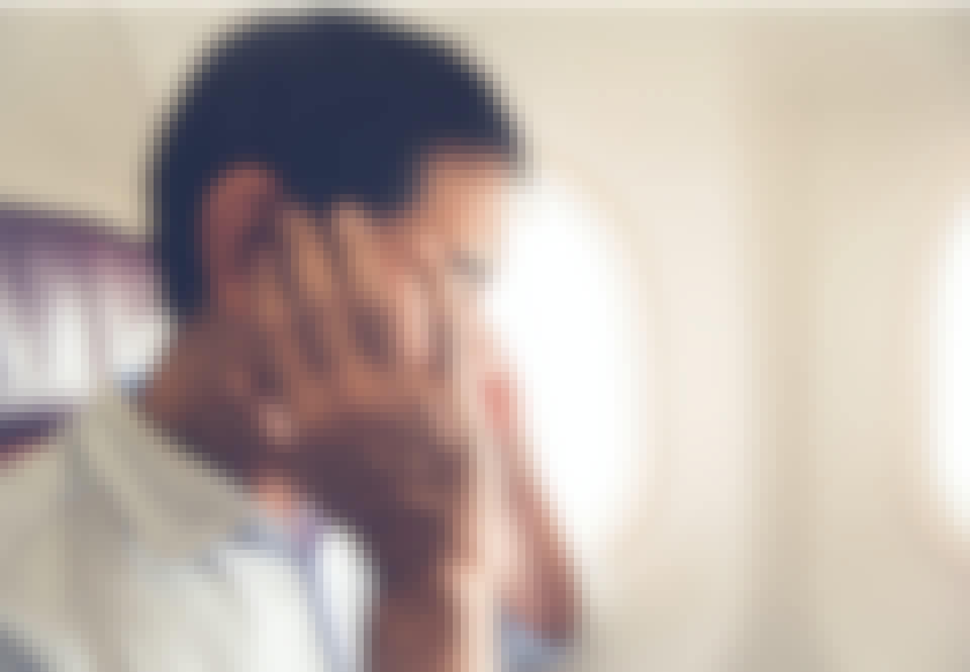 Flygpassagerare med tryck i öronen