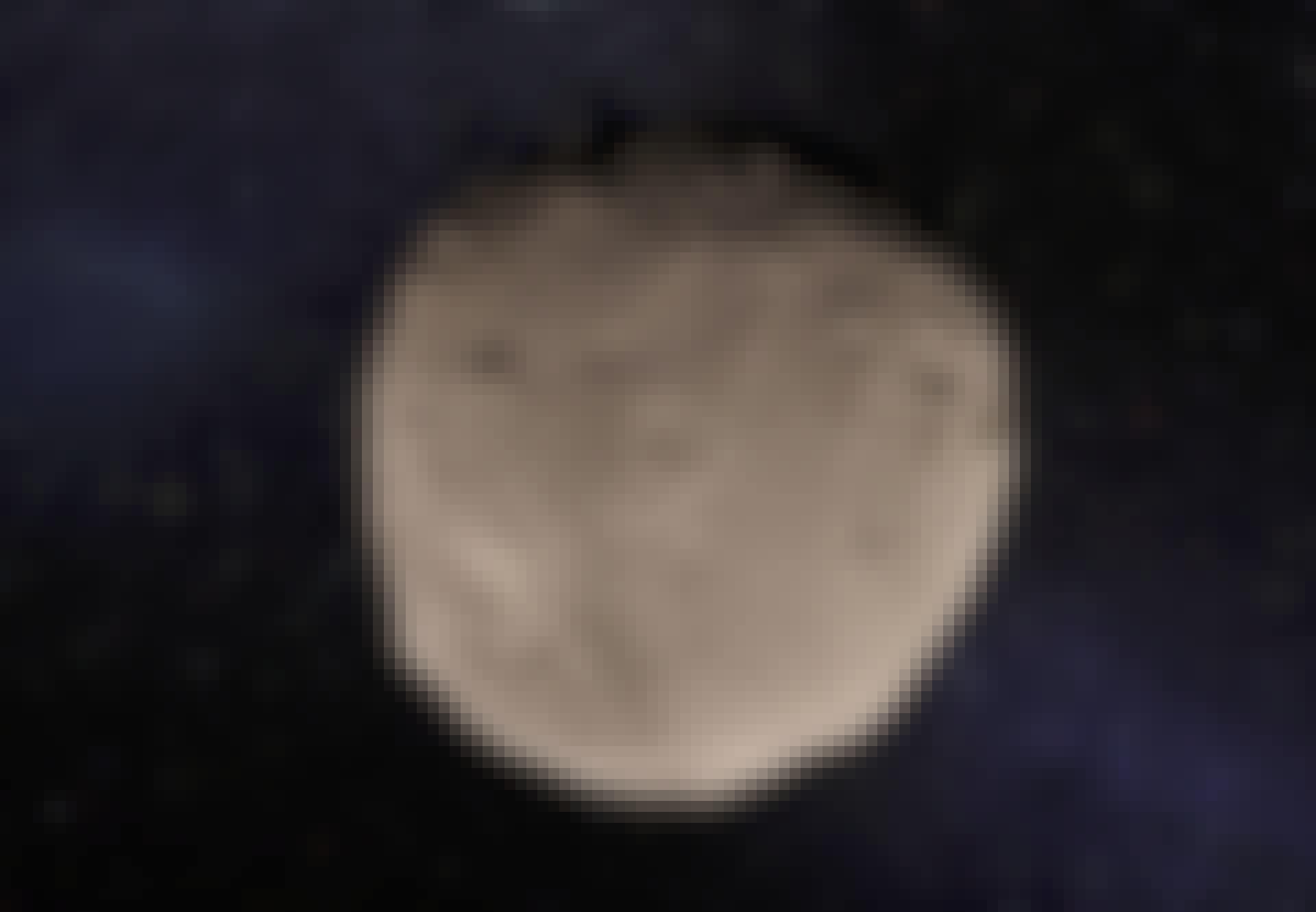 Vesta-asteroiden i rummet
