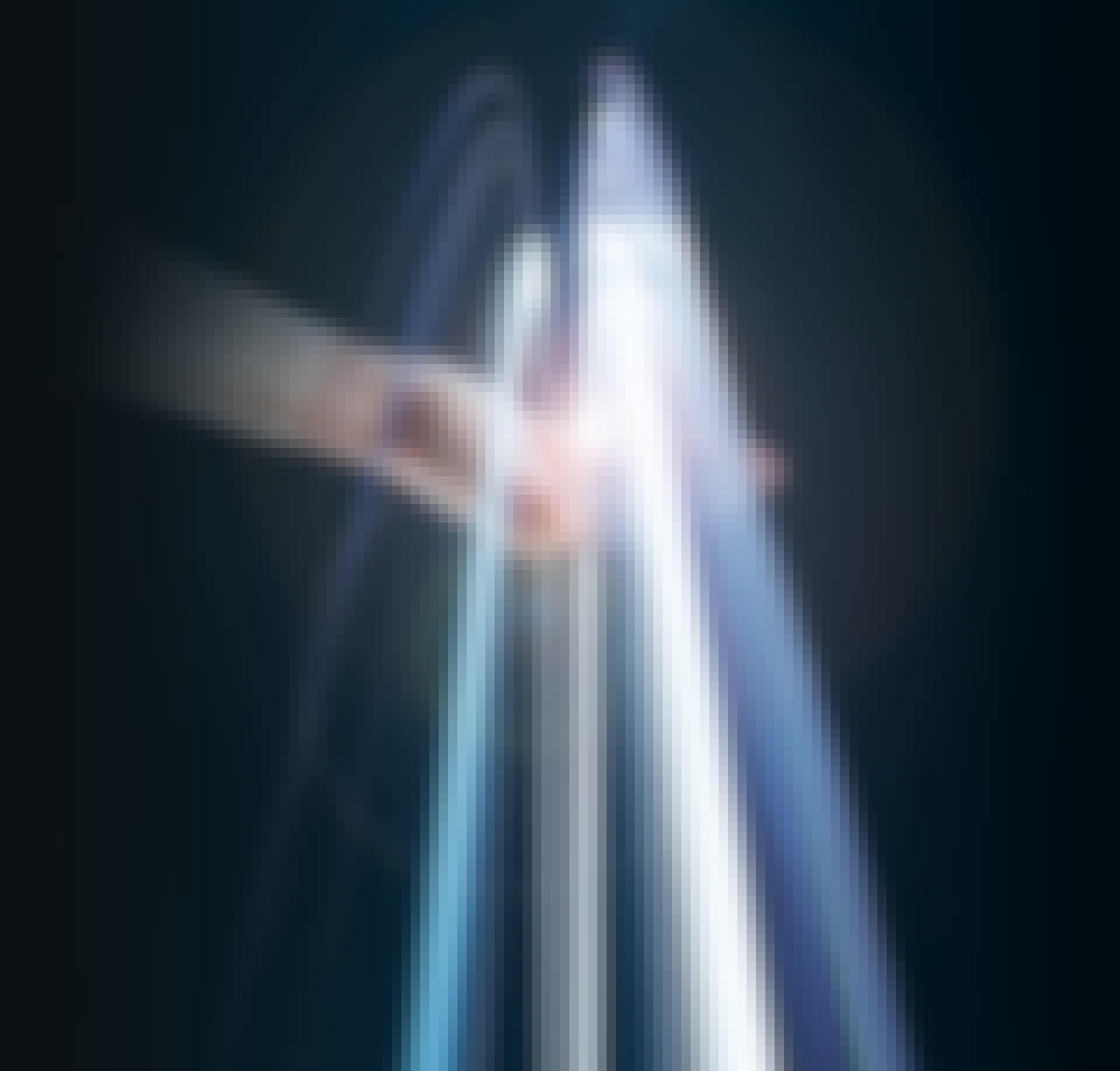 Lysstråler over håndflade