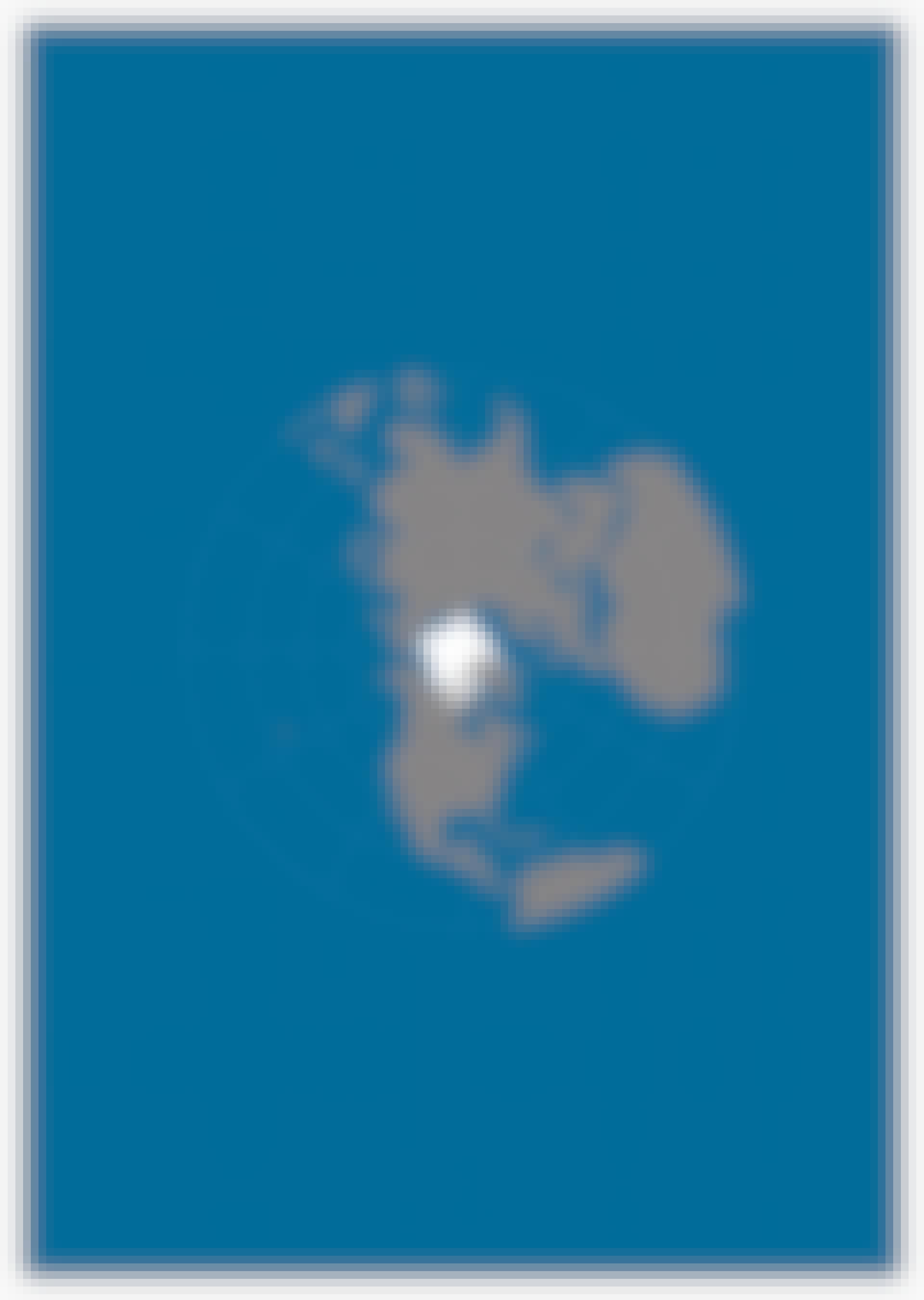Kort over kloden med Arktis i centrum