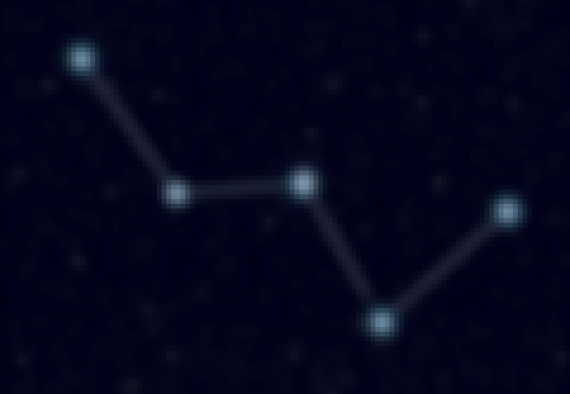 Stjärnbilden Cassiopeja
